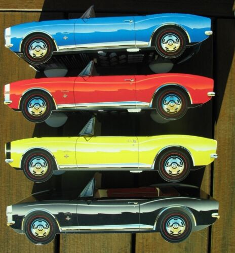 16 ~ Chevy Camaro Cardboard Cars Kids Food Box Tray Table Center Party Favor