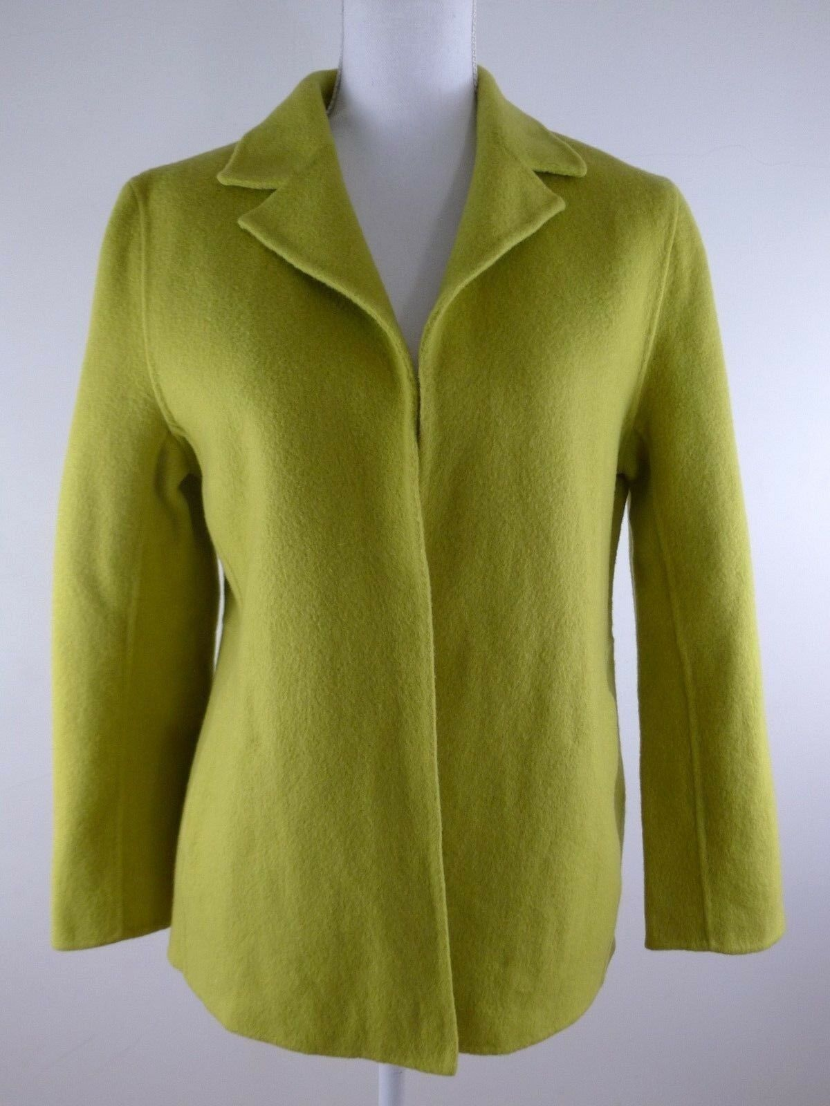 Bloomingdales NOW Women's Yellow Wool Coat, Size 8 P