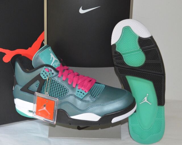 34c62ee846f Nike Air Jordan IV 4 Retro 30th Teal white black Kaws Sz 11.5 Green ...