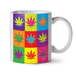 Weed-Cannabis-Foglia-Rasta-NUOVO-White-Tea-Tazza-da-caffe-11-OZ-wellcoda