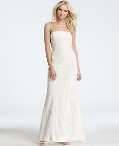 950 nwt ann taylor geometric embroidered sequin strapless wedding image is loading 950 nwt ann taylor geometric embroidered sequin strapless junglespirit Images