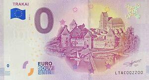 BILLET-0-EURO-TRAKAI-LITUANIE-2018-NUMERO-2200
