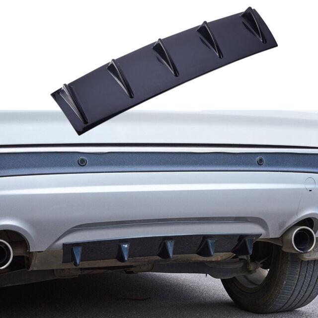 "14/""x6/"" Car Universal ABS Lower Rear Body Bumper Lip Diffuser Shark 3 Fin Spoiler"