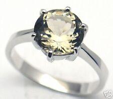 Gorgeous Elegant Quartz Woman Silver Ring S 6.5 #300