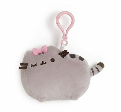 GUND Pusheen Cat Web Comic, Backpack Clip with Pink Bow, BRAND NEW JAN 2015