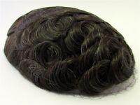 Hairpiece Toupee Light Chestnut / Dark Brown + A Little Gray 100% Human Hair 510