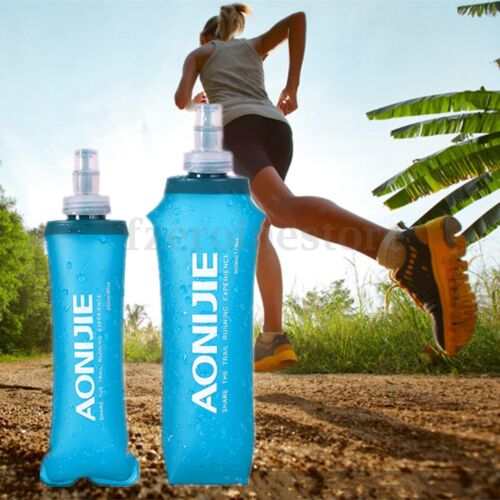AONIJIE Collapsible BPA Free Soft Running Water Bottle Soft Flask Hydration Gym