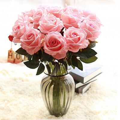 9 Köpfe Seidenblumen Kunstblumen Künstliche Roses Blumenstrauß Floristik Set