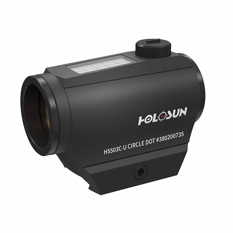 Holosun Visiera Punto Rosso HS503C-U-nero con Ricambiabile Reticolo