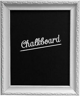 AP3025 Vintage Shabby framed Chalkboard in Black White Gold Silver Gunmetal Wood
