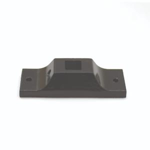Escalera de metal de hierro forjado negro Soportes de fijación del eje recto de revestimiento de polvo