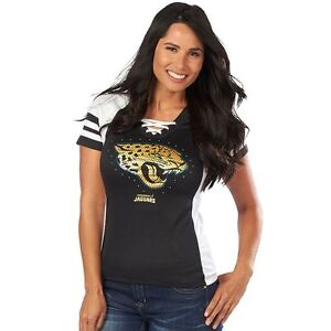 detailed look e85f8 3acd9 Details about NEW NFL Jacksonville JAGUARS Jersey Draft Me VII Sequin Tee  Shirt Women's M / L