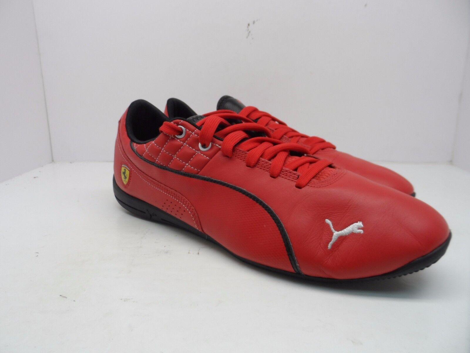 Puma Para Ferrari hombres Cuero Drift Cat 6 Ferrari Para Zapato FerarriROSSO/CorsaBlanco M 795475