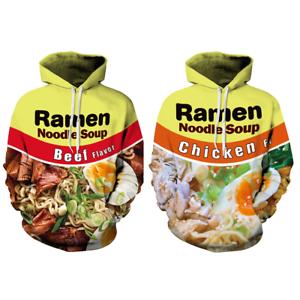 Ramen-Noodles-Soup-Hoodie-Chicken-Beef-3D-Print-Casual-Sweatshirt-Men-039-s-Women-039-s
