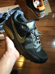 Details about Nike Air Max Command Shoes Black Yellow 397689 008 size 7 Mens