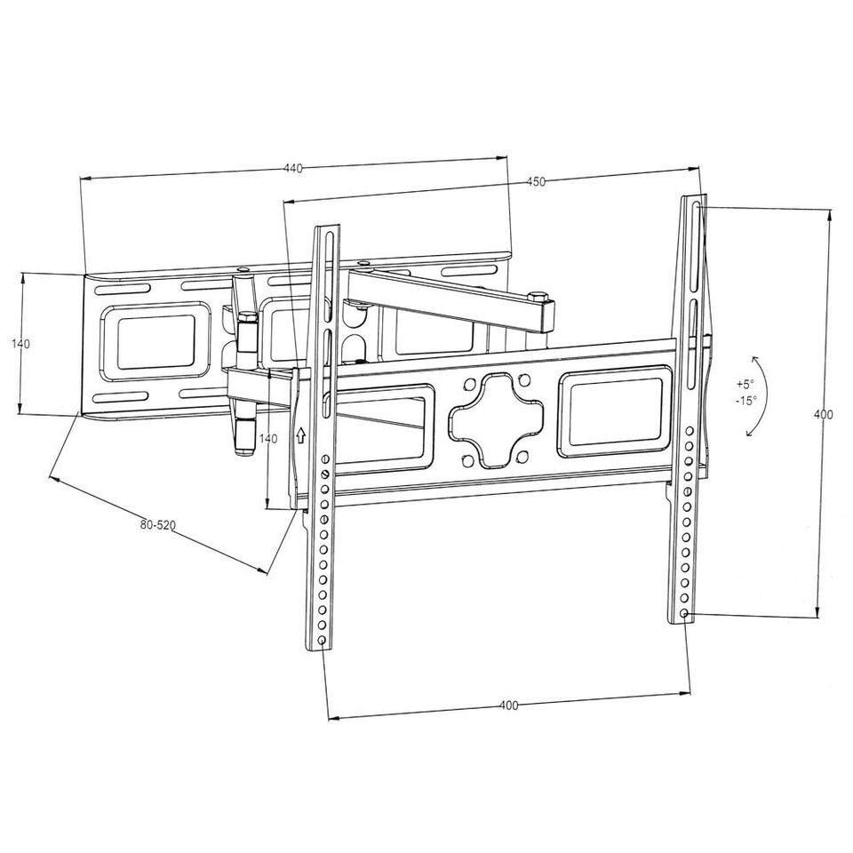 Vægbeslag 26-55 tommer (66-138 cm.) (Vipbar +..., TecTake