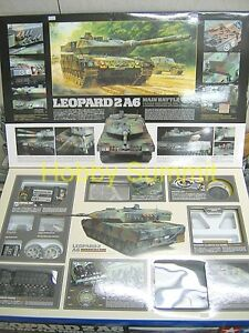 Tamiya-1-16-German-LEOPARD-2A6-R-C-Full-Option-Modern-Tank-Model-Kit-56020