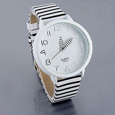 Nice Stunning Women's Zebra Stripes Faux Leather Strap Quartz Analog Wrist Watch