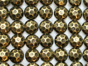 Details about 11 Hammered Head Antique Brass Finish Decorative Upholstery  Tacks / Nails