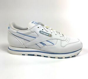 Reebok-Classic-CL-LTHR-Chromed-Blue-White-Womens-Shoes-Size-5-5-Retro-1-101446