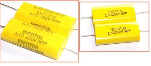 Capacitors * Condensateurs EXPOTUS Polypropylene NOS