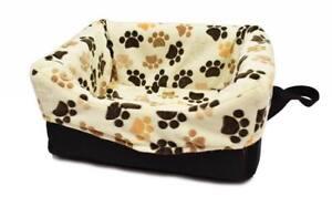 Siège auto pour chien Siège auto pour chien Dogszone Cream Paw, transport, chien de voyage