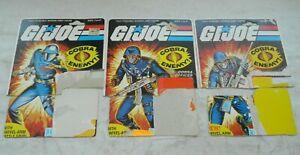 Lot 1983 GI Joe Cobra Commander Officer Soldier v1.5 Swivel Arm File Card Backs