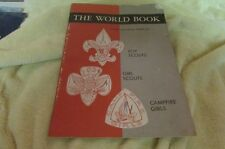 1960 The World Book Badge & Honor Guide For Boy Girl Scouts & Campfire Girls