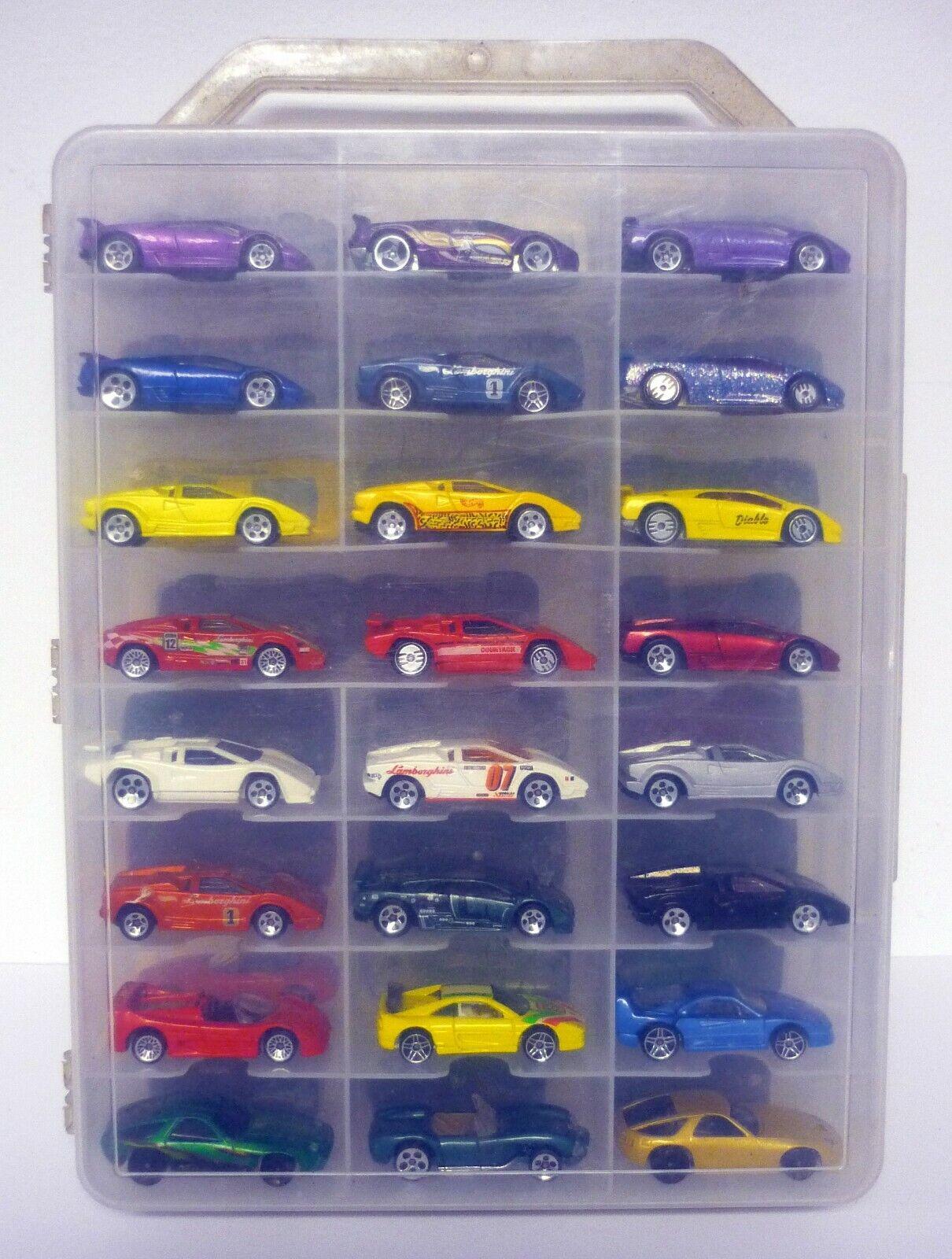Hot Wheels 48 estuche de transporte coche con autos Hyper Sport súper Sport Lamborghini Coches