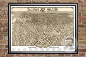 Vintage-Washington-DC-Map-1923-Historic-D-C-Art-Old-Victorian-Industrial
