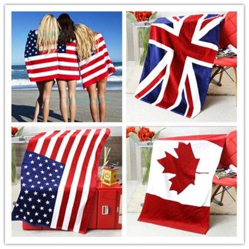 Big British National Flag Bath Towel Beach Soft Blanket Soft Washcloth Quilt New
