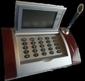 Alarm Clock And Calculator Desk Set With Pen Holder Fine Quality Calender World Time