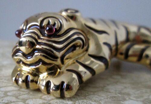Judith Leiber Original Designer Tiger Brooch Pin R