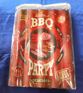 Tin Sign BBQ Party