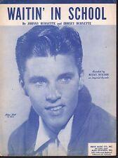 Waitin In School 1957 Rick Nelson Sheet Music