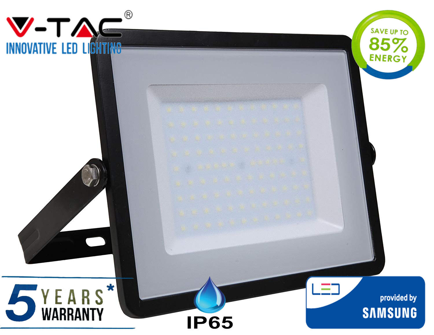 Proyector LED 200W IP65 SMD blancoo frío con LED de Samsung 6400K Negro