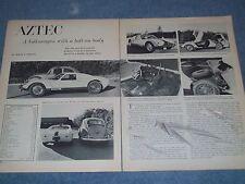 "1965 Fiberfab Aztec Kit Car Vintage Info Article ""A VW with Bolt-On Body"""