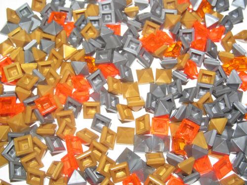 Lego ® Lot x25 Brique Toit Pyramide Ridged Tile 1X1X2//3 Choose Color 22388 NEW