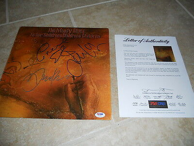 Autographs-original Cooperative Moody Blues X3 Hayward Lodge Edge Signed Autographed Lp Record Psa Certified Clear And Distinctive