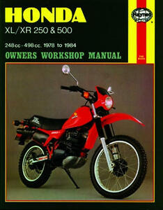 haynes workshop service repair manual honda xl 250 xl 500 xr 250 xr rh ebay com 1986 Honda XL250 1982 Honda XL250