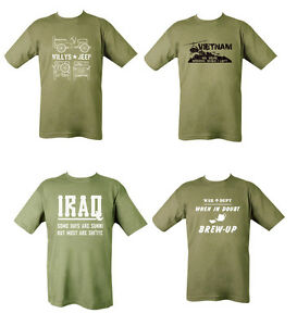 10f0da124c Mens Military British Army Combat T-Shirt Vietnam Iraq Jeep Willys ...