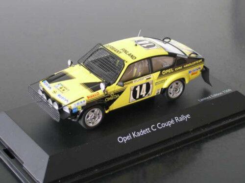 Opel Kadett C Coupé GT E Safari Rallye 1976  14 Aaltonen Pitz SCHUCO Rare 1 43