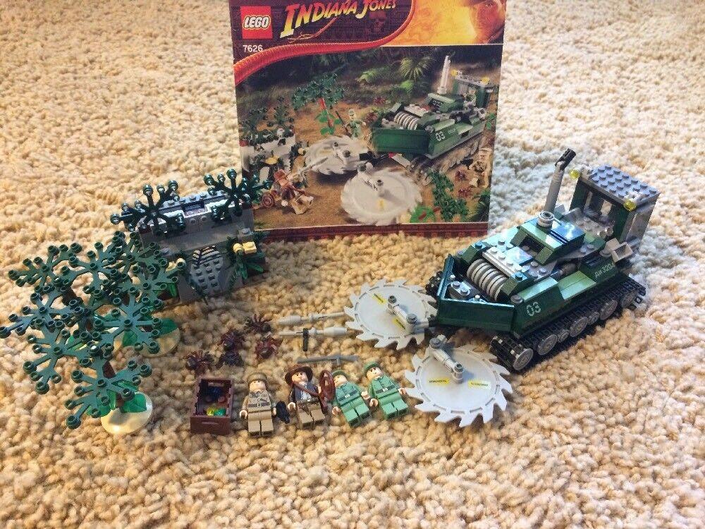 Indiana Jones Jungle Cutter Manual RetiROT 100% Complete Set 551pc Set Lego 7626
