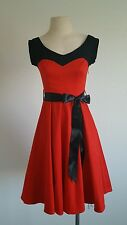 NWT Hearts and Roses London Swing Rockabilly Retro Pin Up VLV Red Black Dress 10