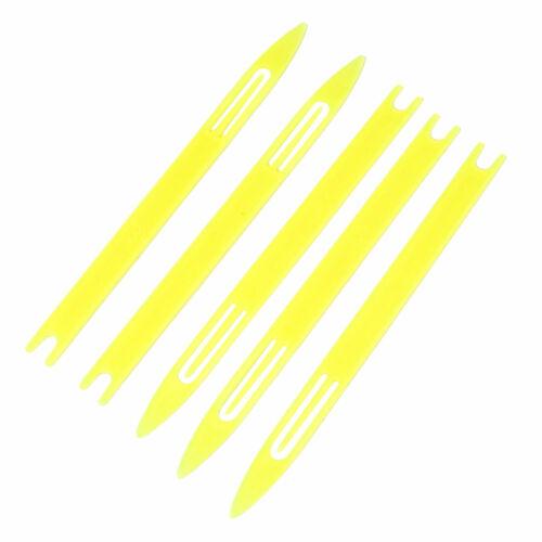 Plastic Repair Knit Net Needle Shuttle Fish Tackle Yellow 5.2 Inch Long 5pcs