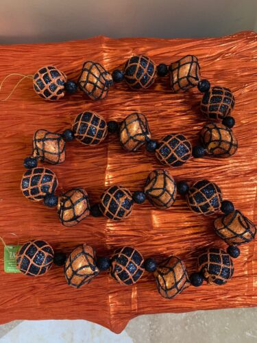 REDUCED Halloween Decor! NEW Raz Imports-SET OF TWO-5′ glittered ball garland