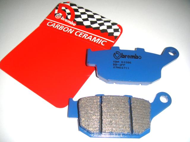 PASTIGLIE FRENO POSTERIORI BREMBO BLU CARBON CERAMIC CC HONDA RS R 250 1992