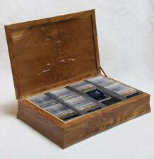 New Card Wood Display Case Trade Show Display Case Portable 120 Trading Card