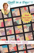 Quilt Pattern ~  TOO CRAZY QUILT  ~ by Eleanor Burns - Quilt in a Day
