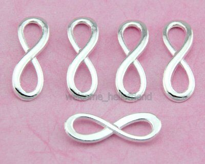 100pcs Antique Gold Plated 8 Infinity Sign Necklace Pendants DIY Charms Y19